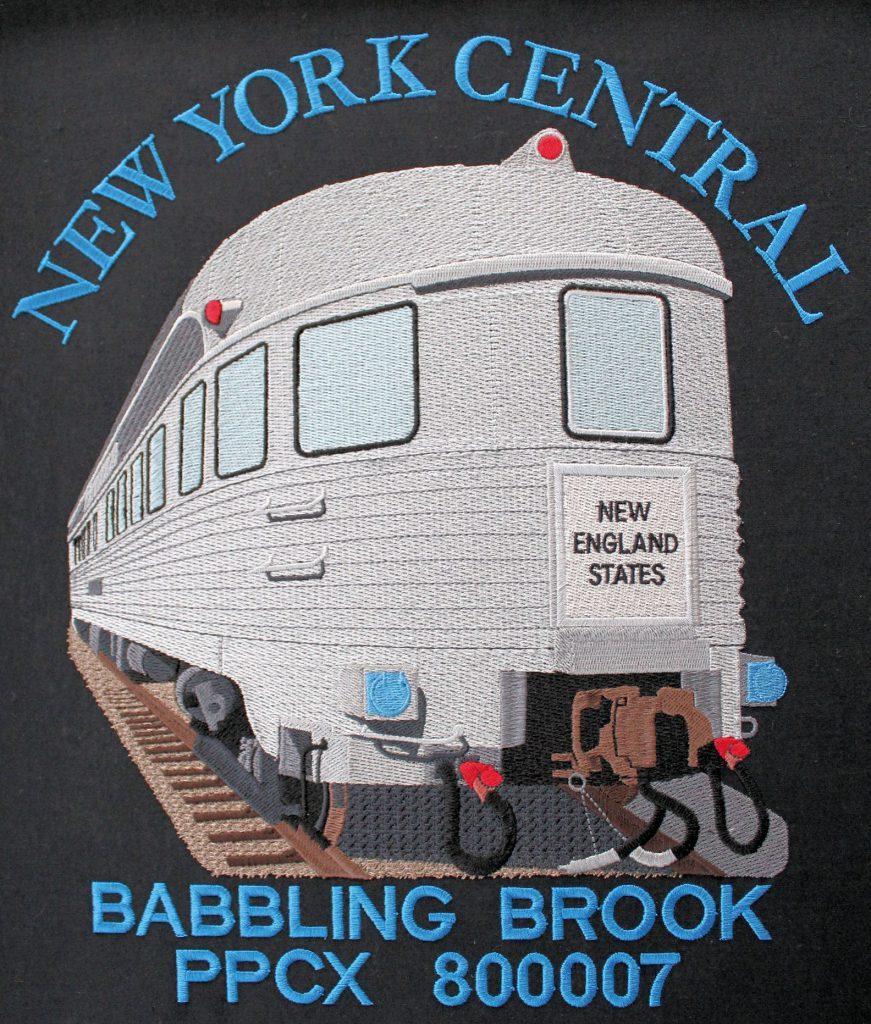 Train Embroidery